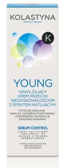 KOLASTYNA YOUNG Nawilzajacy krem przeciw niedoskonalosciom matujacy