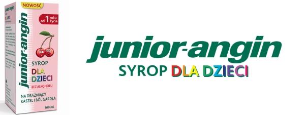 Nowość! junior-angin syrop dla dzieci o smaku czereśniowym