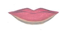 Usta asymetryczne golden rose