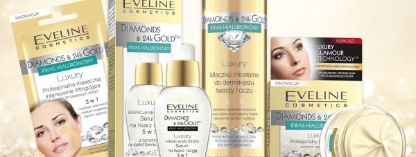 Diamonds & 24k Gold - luksusowa seria kosmetyków Eveline