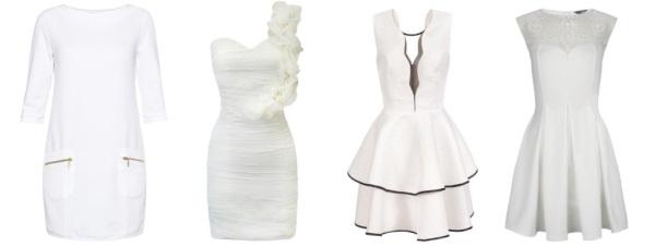 Białe sukienki ze sklepów internetowych
