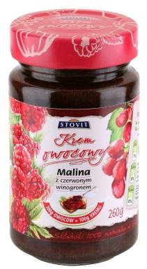 Malina z czerwonym winogronem