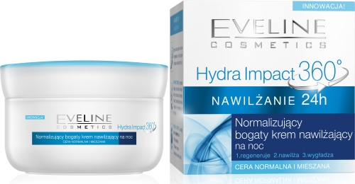 Eveline Hydra Impact 360 normalizujacy_bogaty_krem_noc_360 normalna mieszana