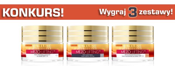 KONKURS! Wygraj zestaw kosmetyków Eveline MEZO LIFTING!