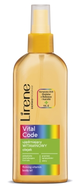 ujędrniający olejek witaminowy lirene vital code