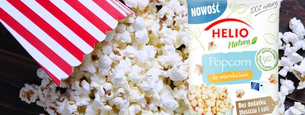 Popcorn do mikrofalówki HELIO Natura bez dodanego tłuszczu i soli