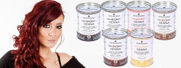 ORIENTANA BIO-HENNA naturalna farba do włosów dla lśniącego, naturalnego koloru