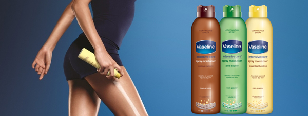 VASELINE® Intensive Care Spray Moisturiser -Twoje ulubione balsamy do pielęgnacji ciała w spray'u