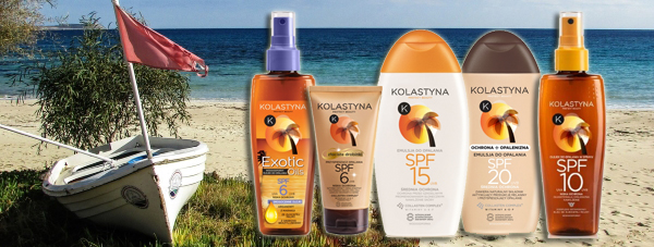 Rozpieszczaj skórę słońcem pod ochroną kosmetyków Kolastyna