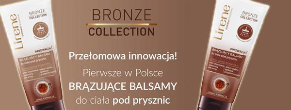 Pierwsze w Polsce brązujące balsamy do ciała pod prysznic Lirene Bronze Collection