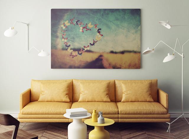 obrazy z motylami redro
