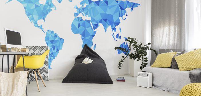 Naklejka z mapą – dekoracja, która otworzy Cię na świat