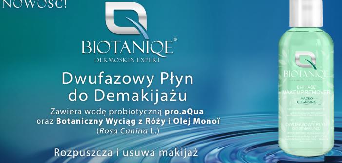Dwufazowy płyn do demakijażu Biotaniqe już w Rossmann!